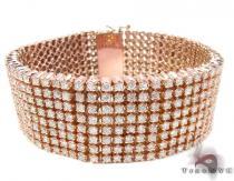 Rose Gold 8 Row Bracelet メンズ ダイヤモンド ブレスレット