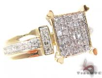 Yellow Gold Round Cut Prong Diamond Ring Cheap Engagement Rings