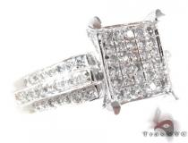 White Gold Round Cut Prong Diamond Ring Cheap Engagement Rings