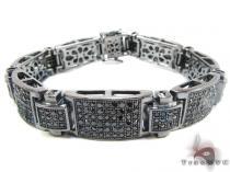 Black Silver Link Bracelet Sterling Silver Bracelets