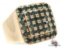 Trax NYC Haevy Blue Color Diamond Ring Mens Diamond Rings