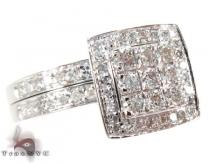 White Gold Round Cut Prong Diamond Wedding Ring Diamond Wedding Sets
