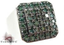 Trax NYC Heavy Green Color Diamond Ring Mens Diamond Rings