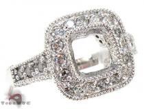 White Gold Round Princess Cut Prong Diamond Semi Mount Ring セミマウント ダイヤモンド リング