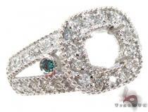 White Gold Round Cut Prong Bezel Diamond Semi Mount Ring セミマウント ダイヤモンド リング