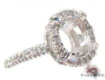 White Gold Round Cut Prong Diamond Semi Mount Ring セミマウント ダイヤモンド リング