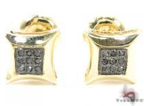 Small Round Cut Micro Pave Black Diamond Earrings 2 Style