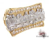 Two Tone 10K Gold CZ Ring 25243 Mens Gold Rings