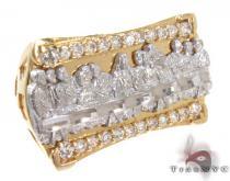 Two Tone 10K Gold CZ Ring 25243 メンズ ゴールド リング