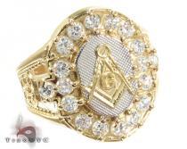 Yellow 10K Gold CZ Ring 25250 メンズ ゴールド リング