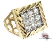 Yellow 10K Gold CZ Ring 25252 Metal