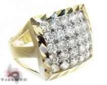 Yellow 10K Gold CZ Ring 25253 Mens Gold Rings