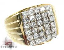Yellow 10K Gold CZ Ring 25254 Mens Gold Rings