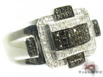 Silver Round Cut Prong Diamond Ring 25357 Mens Silver Rings