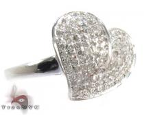 Sterling Silver Heart Diamond Ring 25374 Silver Rings For Women