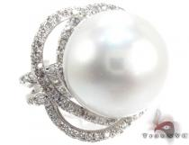 Flowering Pearl Ring Pearl Diamond Rings