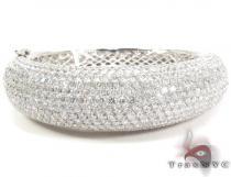 14K Gold Diamond Bangle Bracelet 25418 Diamond