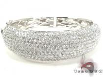 14K Gold Diamond Bangle Bracelet 25419 Diamond & Gold Bracelets