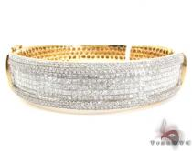 14K Gold Diamond Bangle Bracelet 25420 Diamond & Gold Bracelets