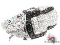 18K White Gold & Diamond Elephant Ring 25432 カラー ダイヤモンド リング
