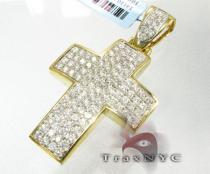 Mini Pave Premier Cross メンズ ダイヤモンド クロス