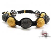 Bead Ball Bracelet B-1532BK Diamond