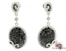 14K Gold Black and White Diamond Chandelier Earrings 25575 ダイヤモンド シャンデリアイヤリング