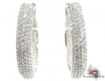 14K Gold Diamond Hoop Earrings 25576 ダイヤモンド フープイヤリング