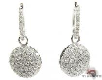 18K Gold Diamond Disc Earrings 25599 レディース ダイヤモンドイヤリング