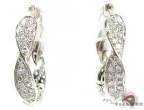 14K Gold Diamond Twisted Hoop Earrings 25600 ダイヤモンド フープイヤリング