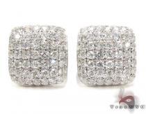 18K Gold Diamond Pillow Earrings 25602 メンズ ダイヤモンドイヤリング ピアス