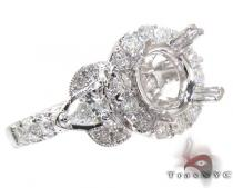 18K Gold Diamond Semi Mount Ring 25647 セミマウント ダイヤモンド リング