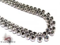 2 Row Black Diamond Chain 34 Inches 8mm 73.0 Grams ダイヤモンド チェーン