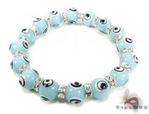 Blue Evil Eye Bracelet Sterling Silver Bracelets