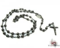 Rosary Silver Chain 24 Inches, 4mm, 25.1 Grams Silver Chains