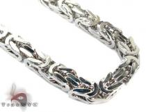 Silver Byzantine Chain 36 Inches, 6mm, 157 Grams Silver