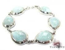 Pastel Colored Stone Silver Bracelet Silver & Stainless Steel