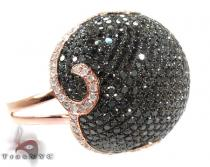 14K Rose Gold Diamond Beetle Ring Colored Diamond Rings