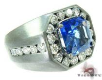 Mens Godfather Gemstone Sapphire Ring Mens Diamond Rings