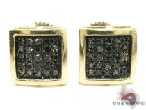 Square Black Diamond Earrings 26047 Mens Diamond Earrings