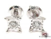 Bezel Single Diamond Earrings 26062 Stone