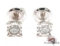 Bezel Single Diamond Earrings 26063 メンズ ダイヤモンドイヤリング ピアス