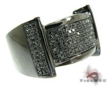 Black Castle Silver Diamond Ring 26096 Mens Silver Rings