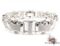 Castor Silver Diamond Bracelet Sterling Silver Bracelets
