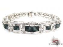 Syrian Silver Diamond Bracelet 26106 Silver