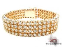 Custom 4 Row Diamond Bracelet メンズ ダイヤモンド ブレスレット