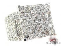 14K White Gold Sparkling Iced Diamond Ring レディース ダイヤモンド リング