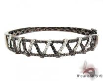 Zigzag Black and White Diamond Bracelet Diamond