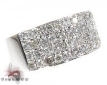 4 Row Ice Diamond Ring Mens Diamond Rings