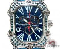Aqua Techno Stainless Steel Blue Diamond Watch Aqua Techno